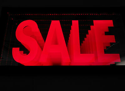 LED SALE Sign Animated Neon Light Tunnel Lamp Infinity light Mirror light Frame