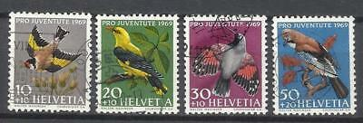 9135-Sellos Suiza Serie Completa Fauna Pro Juventute.año 1969 Aves Nº846/9.Helve