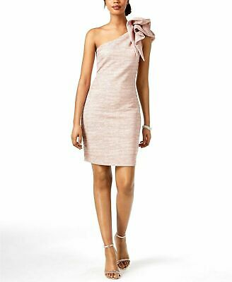 49d42ff1c62d Betsy & Adam NEW Blush Pink One-Shoulder Glitter Party Cocktail Dress Size 6