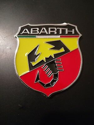 Fregio badge Stemma rear CROMATO chrome Logo 695 FUORISERIE ABARTH