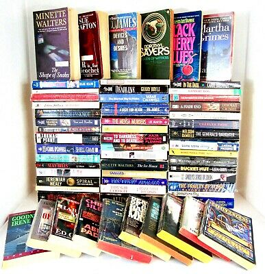 Lot of 58 MYSTERY Books AIRD, CROMBIE, GRAFTON, GRIMES, PD JAMES, SAYERS More!