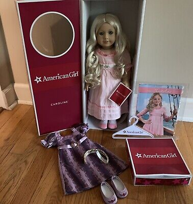 American Girl Doll Caroline Abbott Excellent Cond. W/ Holiday Outfit *Retired*