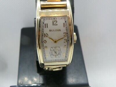 SERVICED 1930`s BULOVA  *THE DELEGATE *  LONG  HEX SHAPED CASE ...REFINISHED