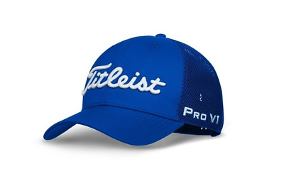 Titleist Golf Hat Fitted Tour Sports Mesh Cap Blue- Free Shipping