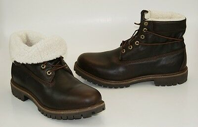 fc246f7e8ea TIMBERLAND FOLD-DOWN ROLL-TOP Lined Waterproof Black Men's Boots ...