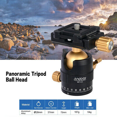Andoer MT-C2 Compact Size Panoramic Tripod Ball Head Adapter 360° Rotation F7D0