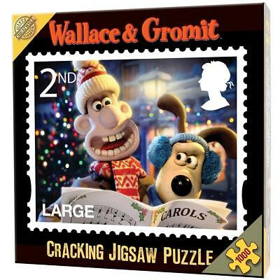 Wallace & Gromit 2nd Class Large Cracking Xmas Stamp 1000 Piece Jigsaw - New