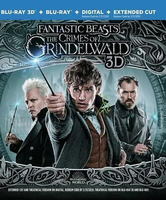 Authetic U.S. Release Fantastic Beasts: The Crimes of Grindelwald 3D 2D Blu-ray