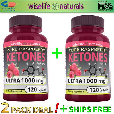 2X Raspberry Ketone 1000mg Extreme Strength 120 Capsules FAST USA SHIPPING