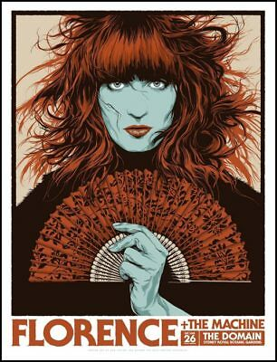 Florence and the Machine Sydney 2019 Screen Print Poster Art Ken Taylor S/N 195