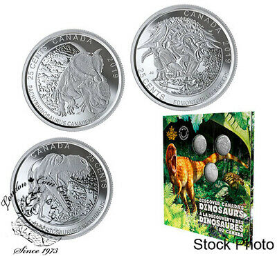 Canada 2019 Dinosaurs of Canada 25-Cent 3-Coin Set