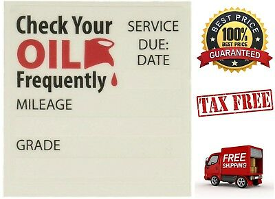100 Pack Oil Change Reminder Stickers Static Cling Service Reminder Adhesive