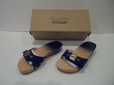 7f8c76365f8d DR. SCHOLLS WOODEN Clogs Exercise Sandals Size 8M White Shoes Heels ...