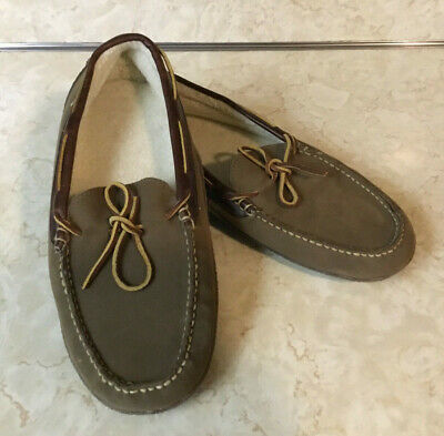 9a380f4d9733 LL BEAN Handsewn Slippers Lined Brown Leather Moccasin NEW Shoes Men s 11 M