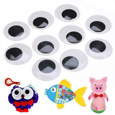 10Pcs 50Mm Big Wibbly Wobbly Googly Eyes Crafts Stick On Stickers Self Adhesive