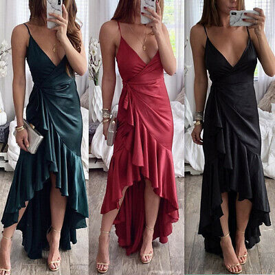 Womens Sexy Evening Formal Party Ladies Bridesmaid Maxi Dresses Prom Long Gown