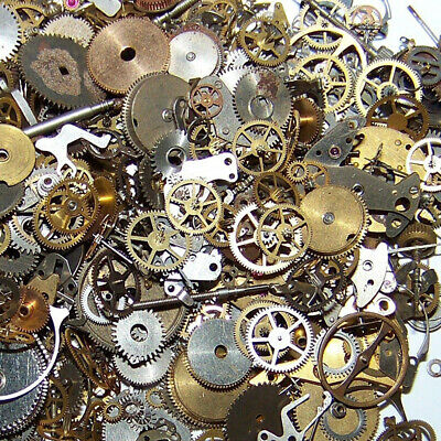 10g Metal Bronze Silver Gold Steampunk Cogs and Gears Clock Hand Charm Mix Part