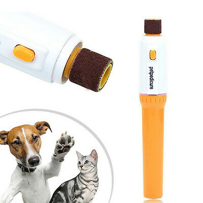 Pet Dog Cat Nail Grinder Trimmer Clipper Electric Nail File Kit Scissors Tool ..