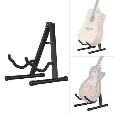 Folding Electric Acoustic Bass Guitar Stand Floor Rack Holder Durable G2R0