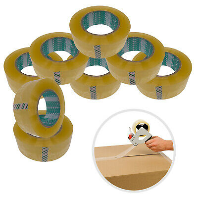 Clear Sellotape 48mm x 160m Roll Box Sealing Parcel Packing Strong Adhesive Tape
