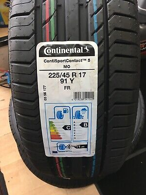 Continental Premium Contact 6 225/45 R17 91V FR AMAZING GRIP C A RATING 1 TYRE
