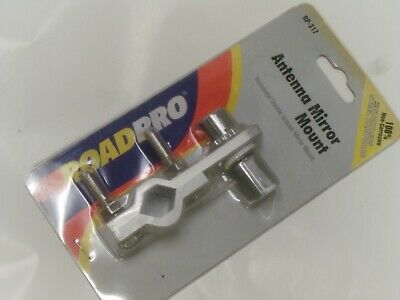 Roadpro Rp-317 Horizontal Double Groove Mirror Mount With So-239 Stud Connector