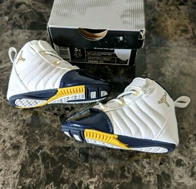 wholesale dealer adb6b 10ddf Boys Nike Jordan XIX 19 RARE 2004 Navy Gold Toddler Baby Vintage Retro 3c  Shoes