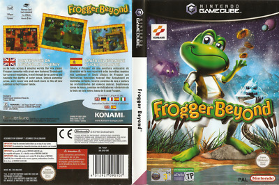 Nintendo GameCube replacement game case and Covers Frogger Beyond pal
