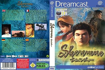 Sega Dreamcast replacement game case and Cover Shenmue