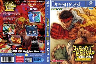 Sega Dreamcast replacement game case and Cover Street Fighter 3 : Double Impact