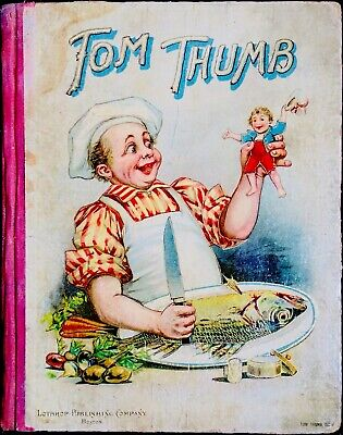 TOM THUMB & Stories Favorites~Antique Victorian Children's Story Fairytale Book