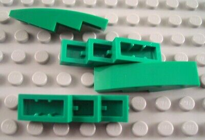 LEGO Lot of 2 Lime Green 2x4 Curved Slope Pieces