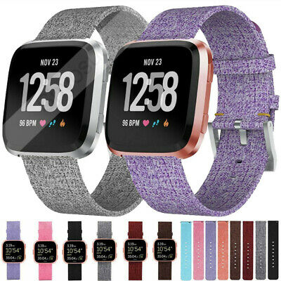 Replacement Band For Fitbit Versa Lite Fabric Luxury Watch Sport Strap Wristband