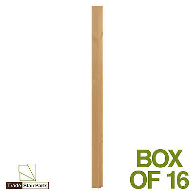 Stair Spindles - Plain - Solid Wood - Pine - Box of 16