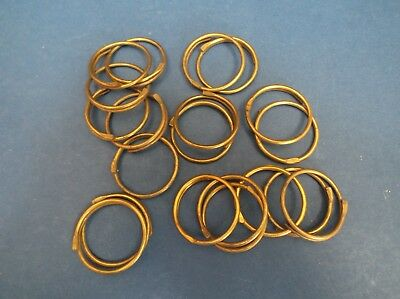 20 Vintage Brass curtain Rings 50's 3.5cm diameter x 1mm thick