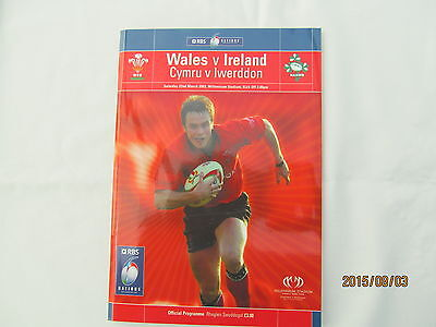 Wales v Ireland. Rugby Union. 6 Nations. March 2003.