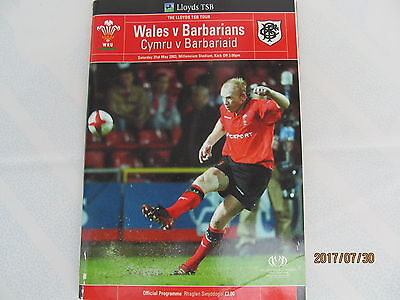 Wales v Barbarians 2003 rugby programme
