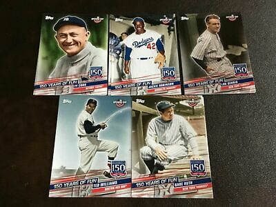 2019 Topps Opening Day 150 Years Of Fun Inserts You Pick Ruth, Trout, Cobb