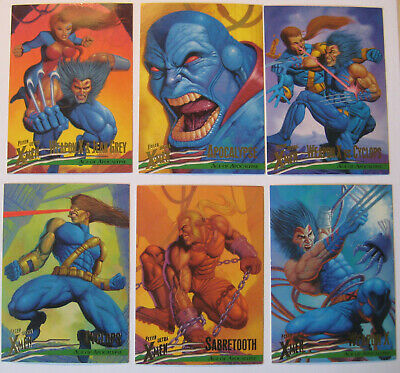 1996 Fleer X-Men Age of Apocalypse Set of 6 Trading Cards Marvel Wolverine