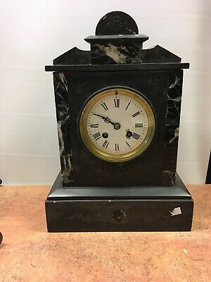 antique slate mantle clock Spares Or Repair