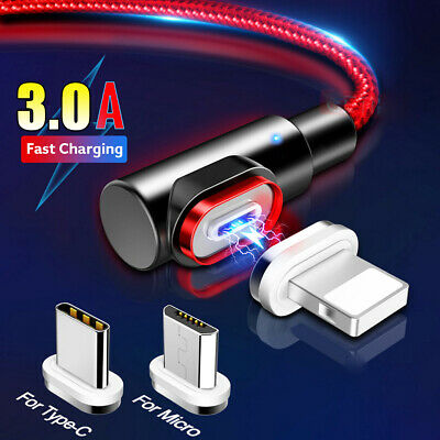 2M 6.6FT 3A Type C USB-C Fast Charging Data Charger Cable For Samsung Huawei P30