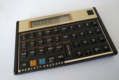 HP 12C Financial Calculator Hewlett Packard with extra batteries