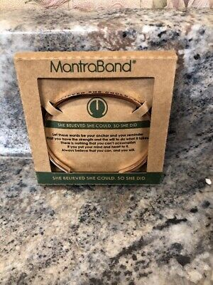 New MantraBand She Believed She Could So She Did Rose Gold Bracelet