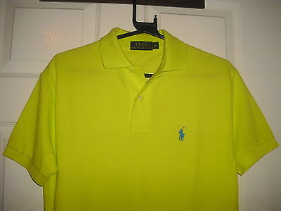 Ralph Lauren ss polo shirt for gents in bright yellow size XS RRP: 70 GBP