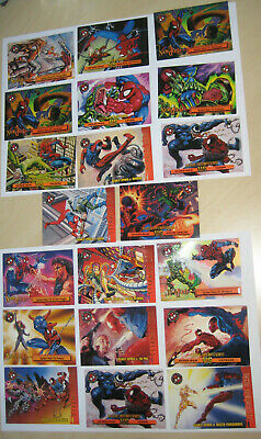 1996 Fleer Spiderman Premium VS Set of 20 Trading Cards Marvel Venom Sandman