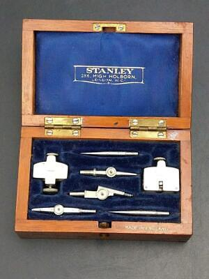 Stanley Instrument Drawing Set in Mahogany Case Early 20th Century