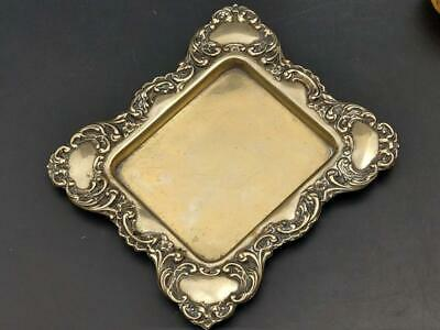 Victorian EPNS Tray with Foliage Scroll Border
