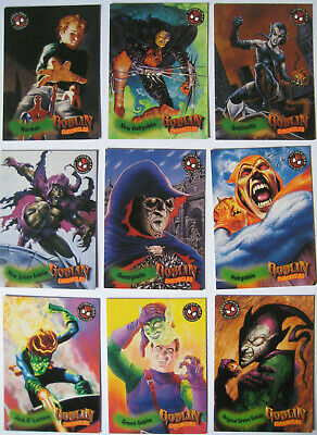 1996 Fleer Spiderman Premium Goblin Chronicles Set of 9 Trading Cards Marvel