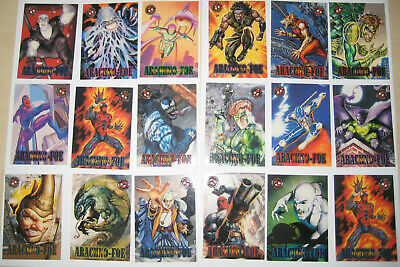 1996 Fleer Spiderman Premium Arachno-Foe Set of 35 Trading Cards Marvel Carnage