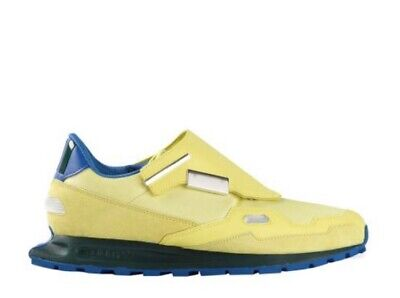 ADIDAS BY RAF SIMONS Neon Yellow & Blue Raf Simons Formula One Sneakers RRP £229